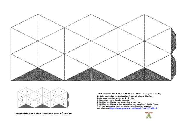 Elaborado por Belén Cristiano para SÚPER PT INDICACIONES PARA REALIZAR EL CALIDOCICLO (Imprimir en A3) 1. Colorear todos l...