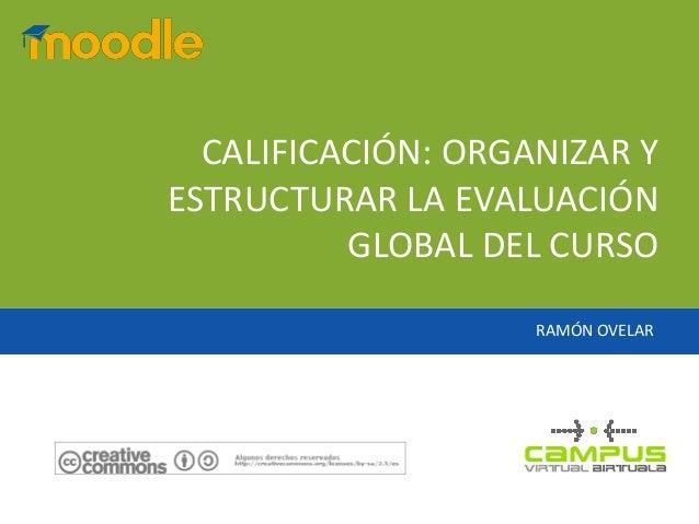 RAMÓN OVELARCALIFICACIÓN: ORGANIZAR YESTRUCTURAR LA EVALUACIÓNGLOBAL DEL CURSO