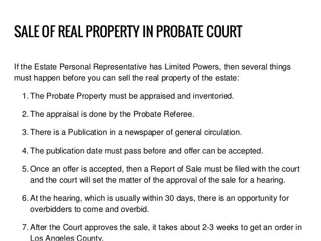 how to probate an estate in california pdf