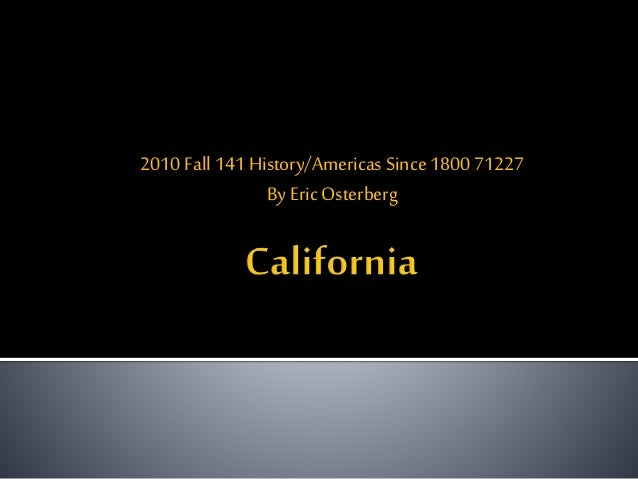 2010 Fall141 History/Americas Since 1800 71227 By EricOsterberg