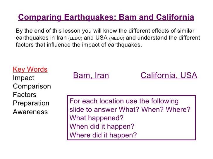 medc earthquake case study san francisco