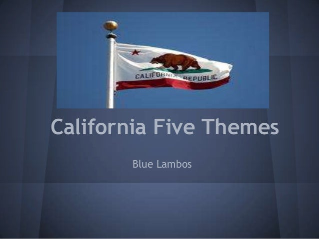 California Five Themes       Blue Lambos