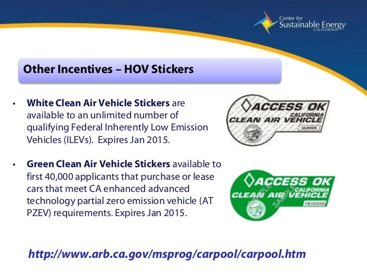 California Center For Sustainable Energy Pev Incentives
