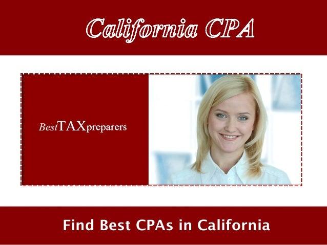 Find Best CPAs in California