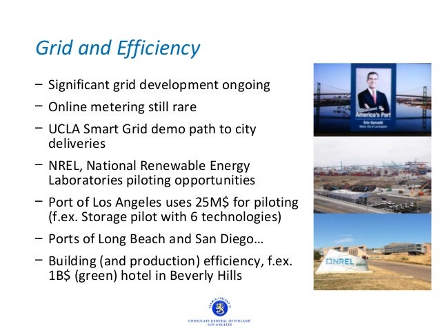 Grid and Efficiency – Significant grid development ongoing – Online metering still rare – UCLA Smart Grid demo path to cit...