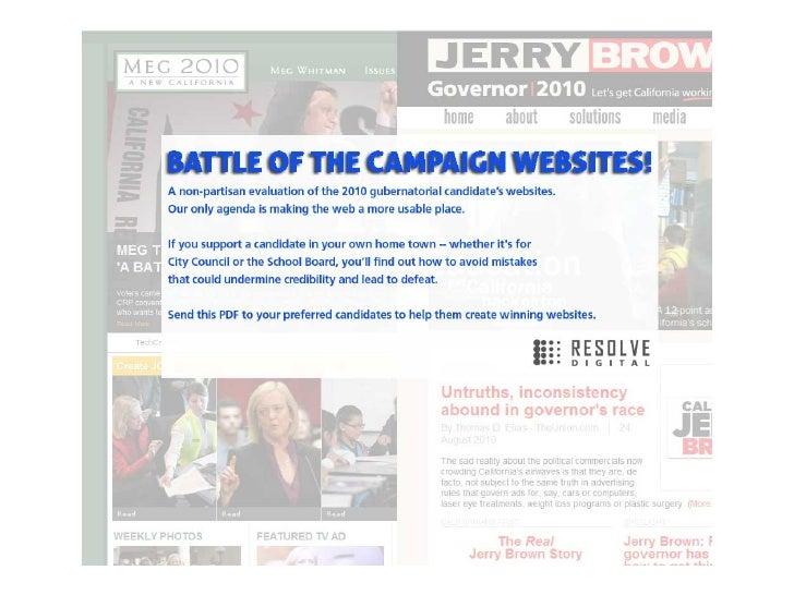 Jerry Brown Vs. Meg Whitman: Battle of the Campaign Websites