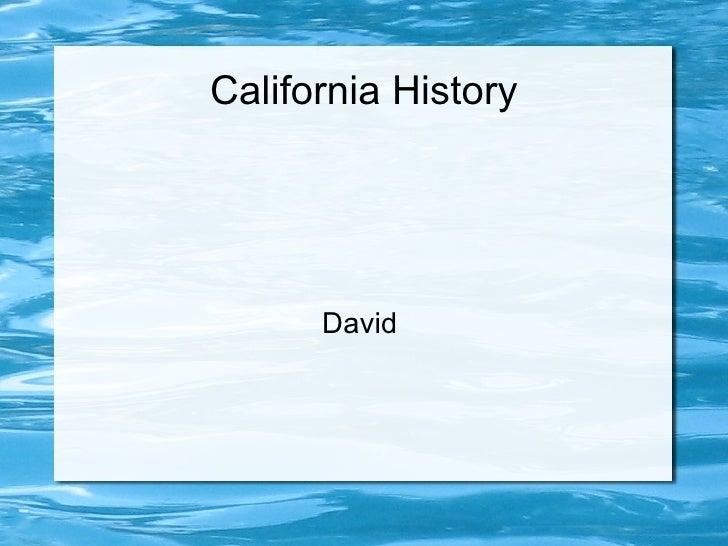 California History David
