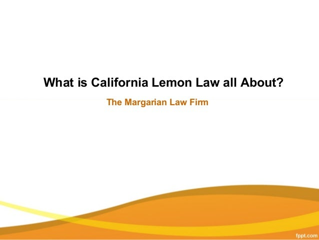 California Lemon Law >> California Lemon Law