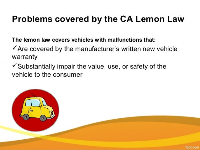 California Lemon Law >> California Lemon Law