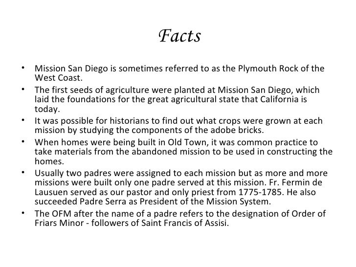 an introduction to californias missions The california missions resource center is a comprehensive and unique resource for historical information on the twenty-one california missions we strive to provide quality information for students, teachers and people interested in discovering the wonderful history of the early missions and the people who helped create and shape the california we know today.