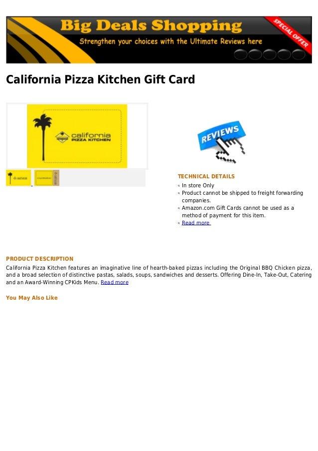 California Pizza Kitchen Pizza Size