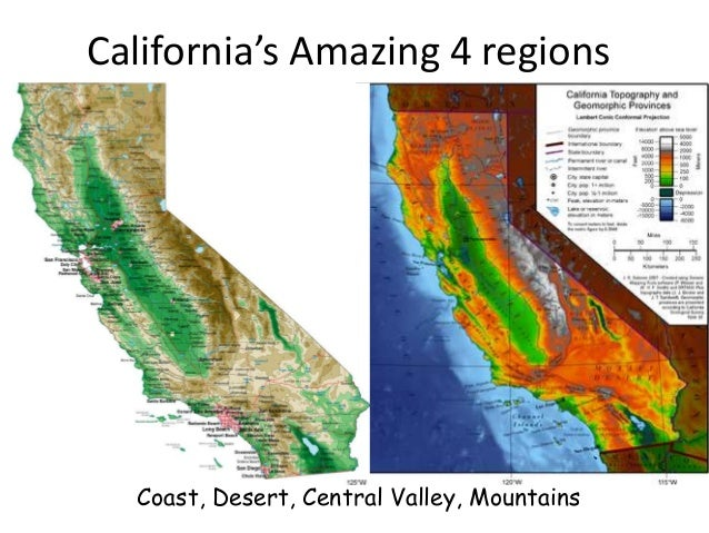 photograph relating to California Regions Map Printable referred to as Californias unbelievable 4 parts