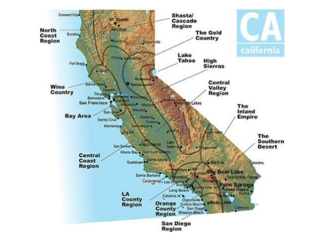 Californias amazing 4 regions
