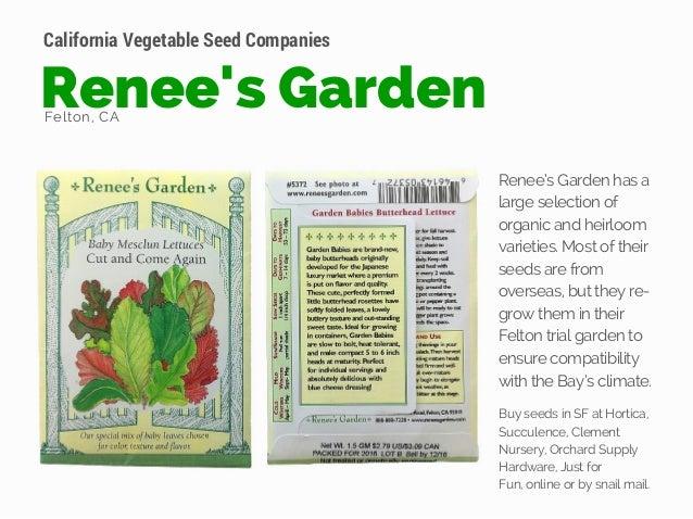 California Vegetable Seed Companies Dixon, CA | Nicaso, CA; 8. Reneeu0027s  Garden ...