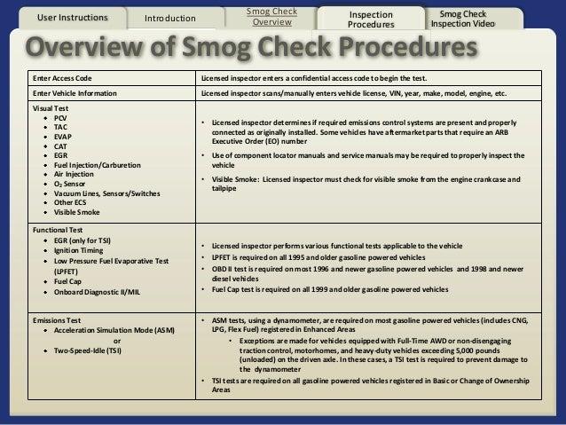 VVC AUTO 85 5 Smog Technician Level 1 California Smog