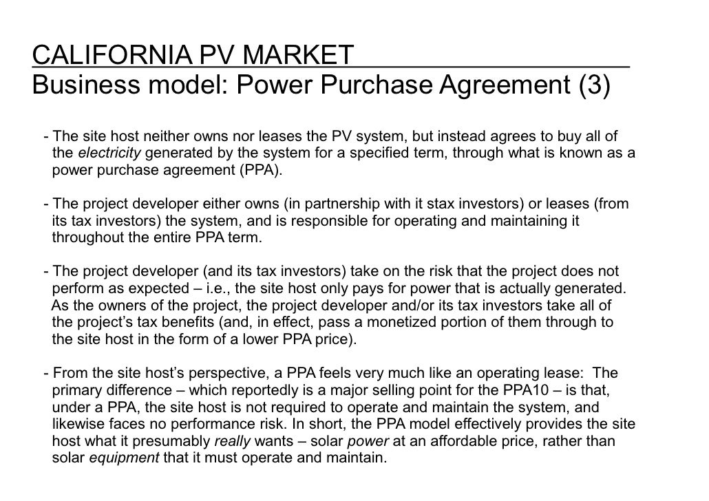 Power Purchase Agreement Template 28 Images Sle Power