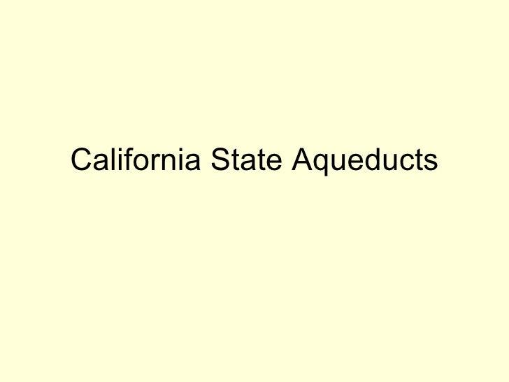 California State Aqueducts