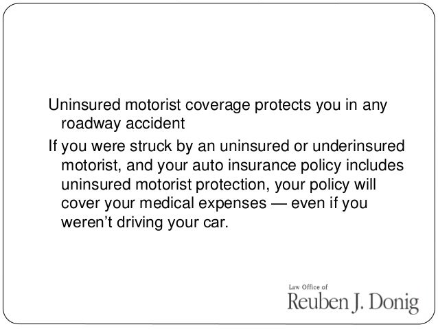 California uninsured motorist protection attorney Uninsured motors