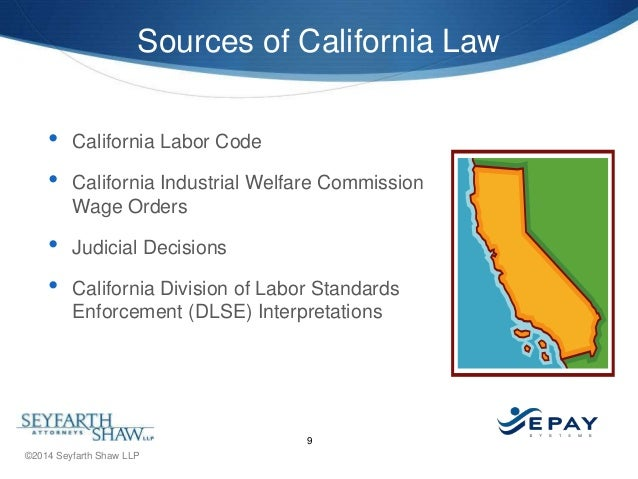 California labor laws dating