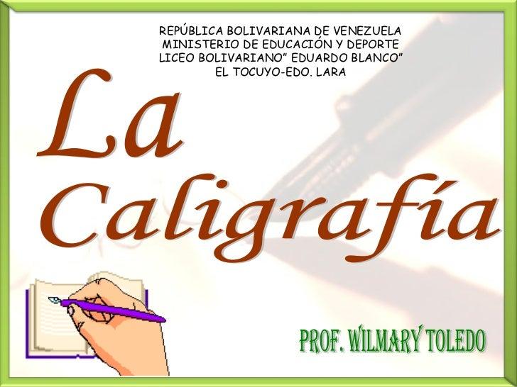 """REPÚBLICA BOLIVARIANA DE VENEZUELA  MINISTERIO DE EDUCACIÓN Y DEPORTE LICEO BOLIVARIANO"""" EDUARDO BLANCO""""         EL TOCUYO..."""