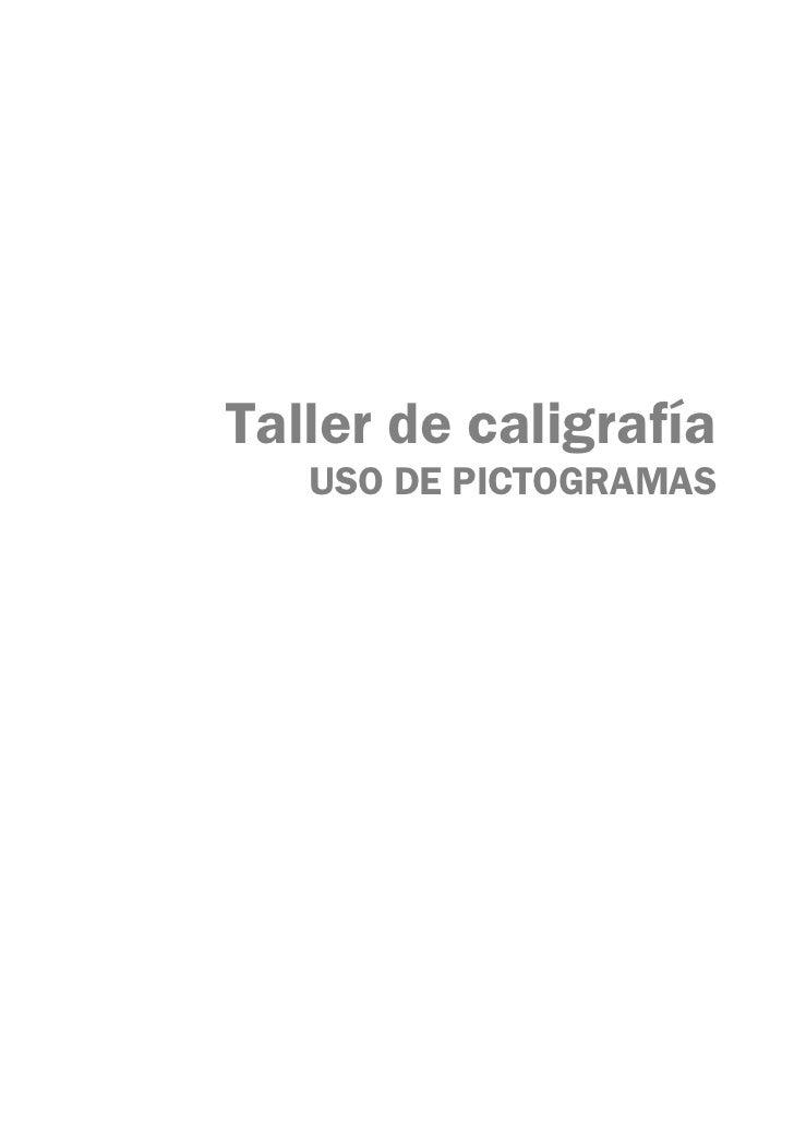 Caligrafia pictogramas Slide 2