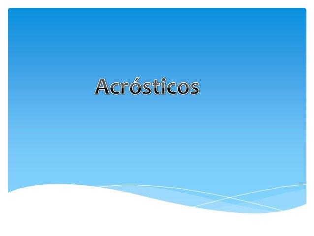 Caligramas Y Acrostico