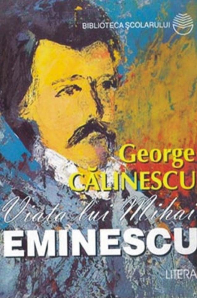 Imagini pentru george calinescu eminescu