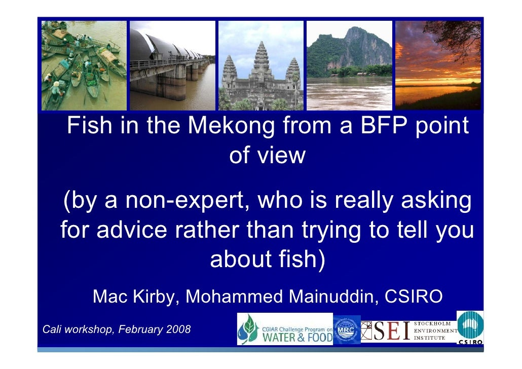 Fish in the Mekong from a BFP point                    of view    (by a non-expert, who is really asking    for advice rat...
