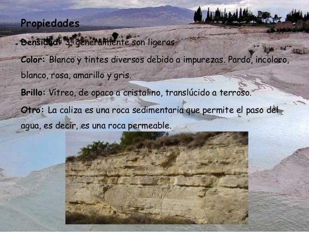 Calizas w for Formacion de la roca
