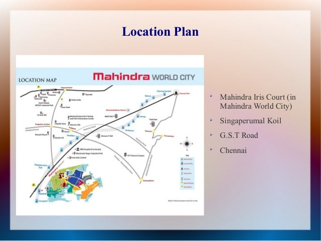 Call 9278892788 mahindra iris court in singaperumal koil chennai floor plan 7 location plan mahindra iris court in mahindra world city gumiabroncs Gallery