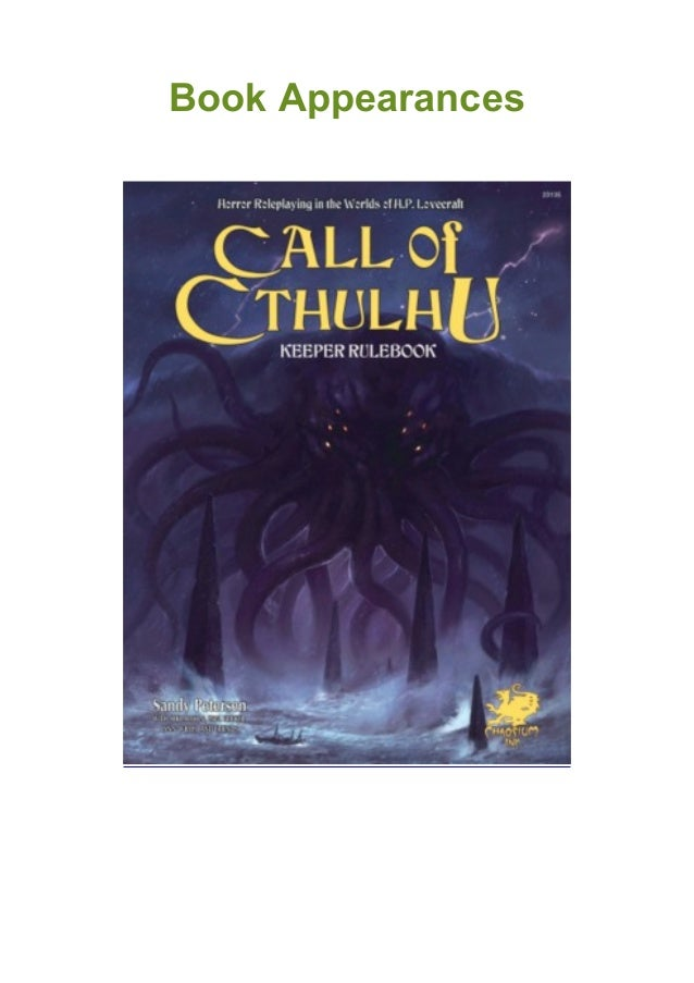 Call Of Cthulhu Keeper Rulebook Horror Roleplaying In The Worlds Of