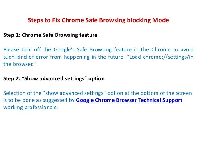 Call 18002402551 to Fix Chrome Safe Browsing feature blocking some downloads in the browser Slide 3