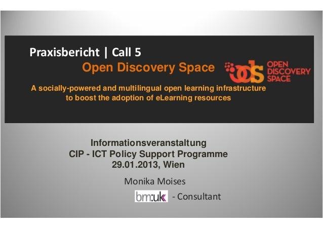 Praxisbericht | Call 5              Open Discovery SpaceA socially-powered and multilingual open learning infrastructure  ...