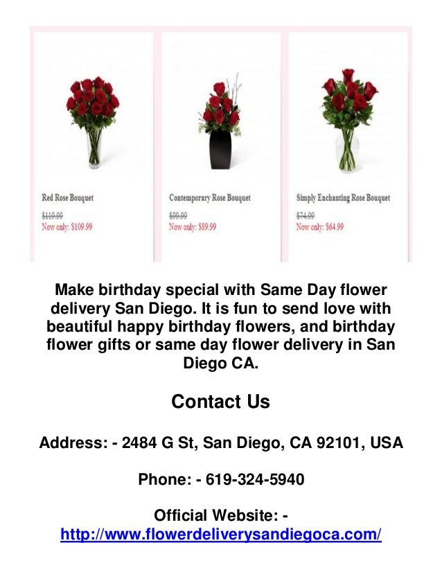 3 Make Birthday Special With Same Day Flower Delivery San Diego