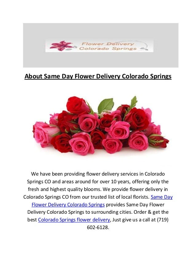 Call 719 602 6128 same day flower delivery colorado springs co about same day flower delivery colorado springs we have been providing flower delivery services in colorado mightylinksfo