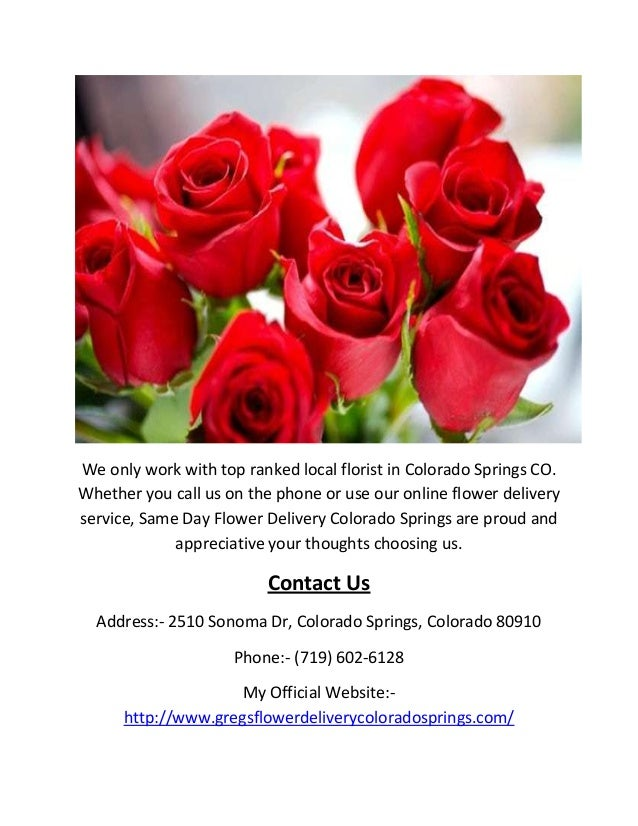 Call 719 602 6128 same day flower delivery colorado springs co 3 we only work with top ranked local florist in colorado springs co mightylinksfo