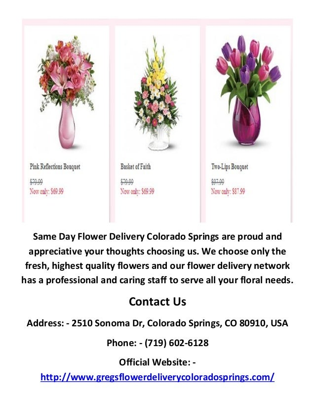 Call 719 602 6128 for flower delivery in colorado springs 3 same day flower delivery mightylinksfo