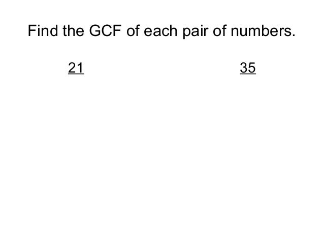 how to find the gcf of 36 and 16