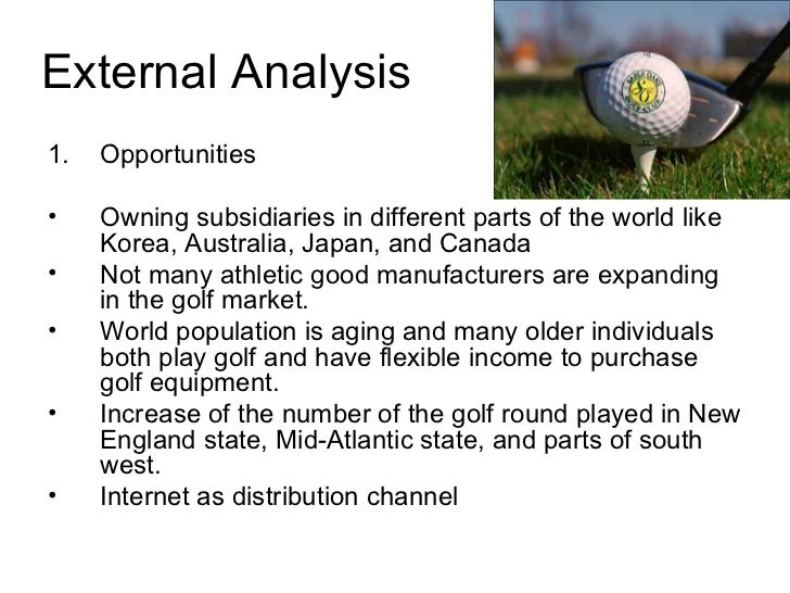 Case analysis of Callaway Golf Company - WriteWork