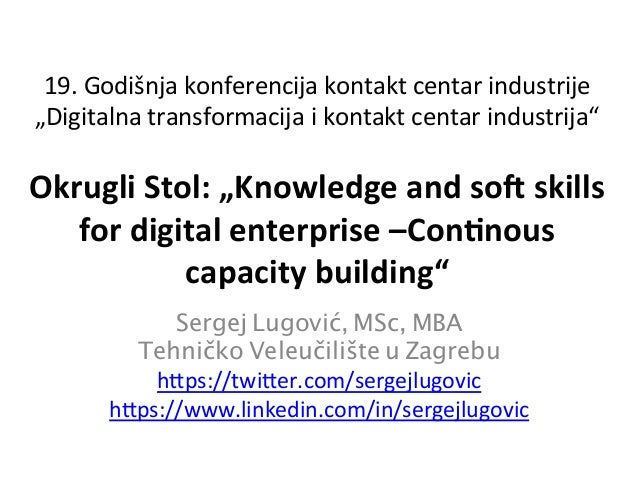 "19.  Godišnja  konferencija  kontakt  centar  industrije   ""Digitalna  transformacija  i  kontakt  cen..."