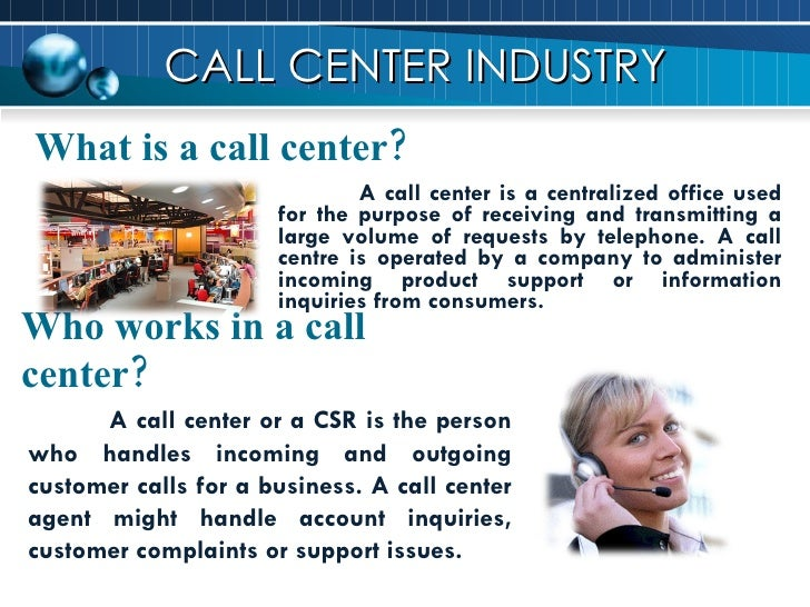 Call center Slide 2