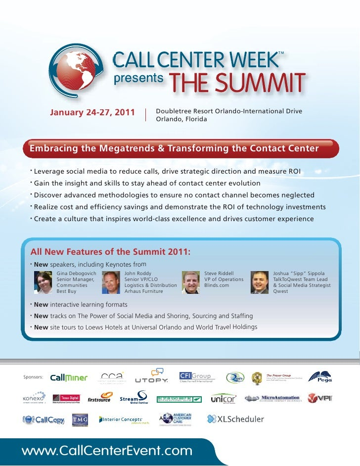 January 24-27, 2011                     Doubletree Resort Orlando-International Drive                                     ...