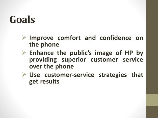 call center objectives