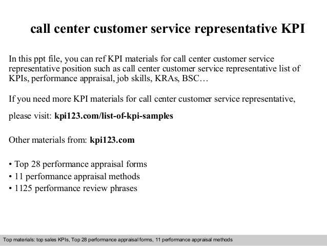 Call Center Customer Service Representative Kpi