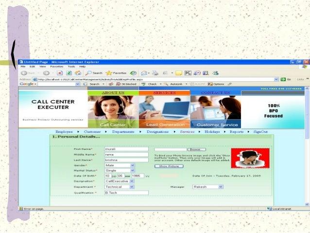 call center management system Call center management system ppt