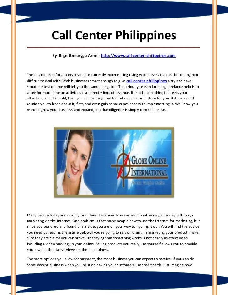 Call Center Philippines_____________________________________________________________________________________              ...