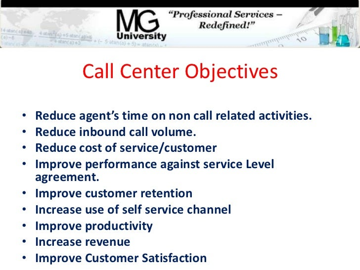 Resume objectives for call center agents