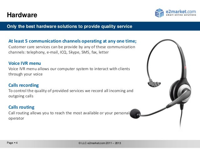Call-center. E-Commerce Solutions