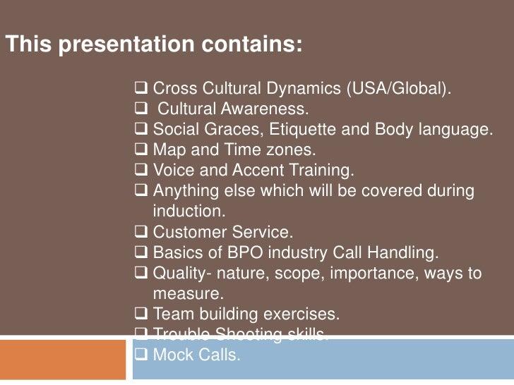 Call center training SPR Slide 2
