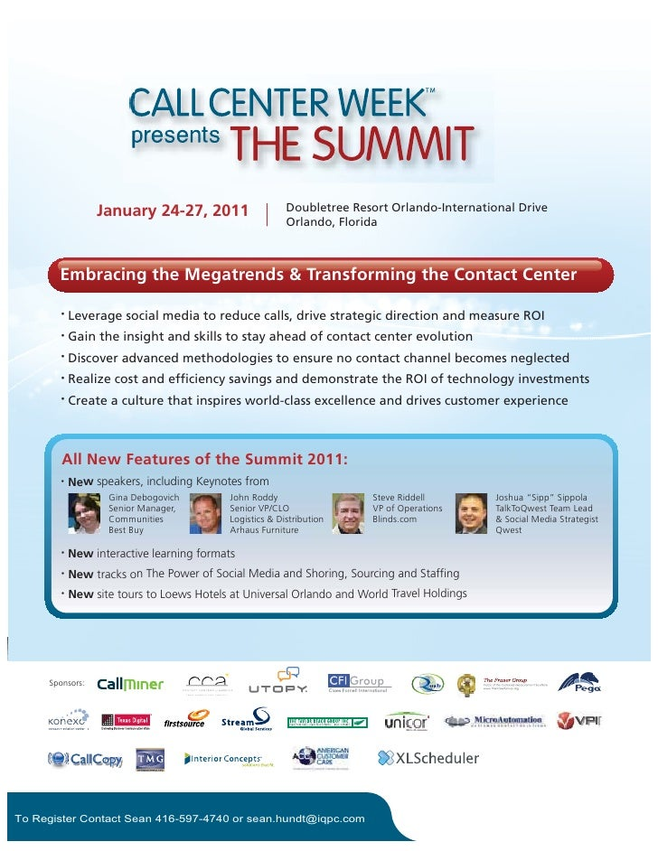 January 24-27, 2011                     Doubletree Resort Orlando-International Drive                                     ...